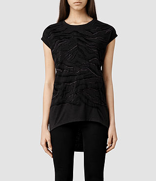 Womens Zira Top (Charcoal)