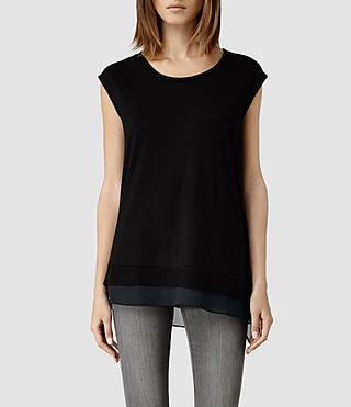 Womens Miro Top (Black/Ink)