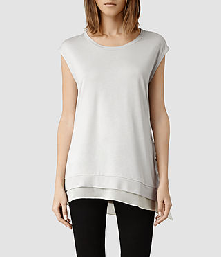 Womens Miro Top (Stone/Chalk)