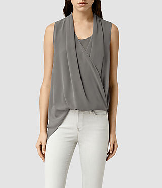 Damen Abi Vik Top (Slate Grey)