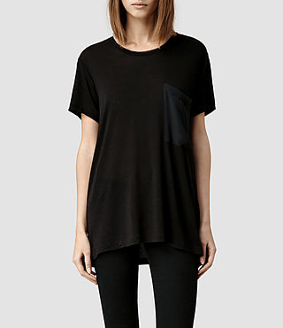 Womens Yuno Tee (Black)