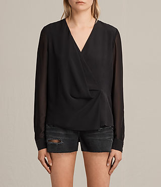 nile silk top