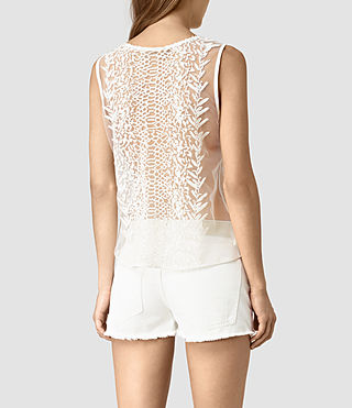 Women's Cariad Embroidered Top (Chalk White) - product_image_alt_text_4