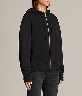 Womens Violet Hoody (Jet Black) - product_image_alt_text_3