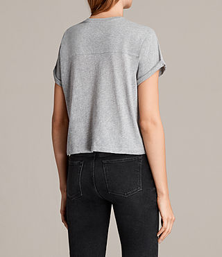 Femmes T-shirt Alby (Grey Marl) - product_image_alt_text_3