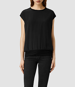 Womens Strata Top (Black/Anthracite)