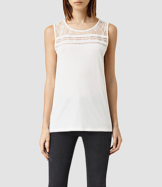 Womens Emeline Vest Top (Chalk White)