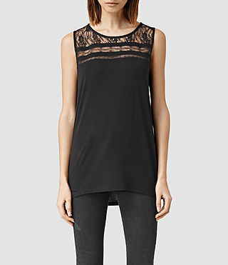 Women's Emeline Vest Top (Black)