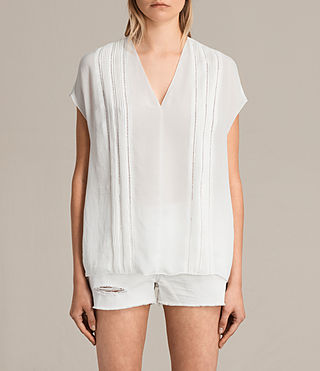 Women's Ella Top (Chalk White) -