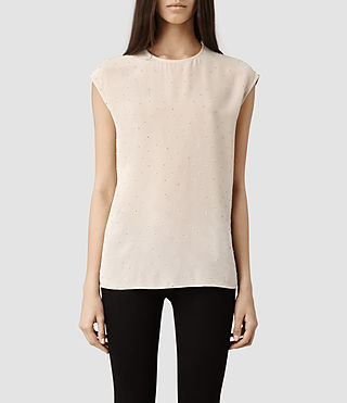 Womens Aurora Top (Oyster)