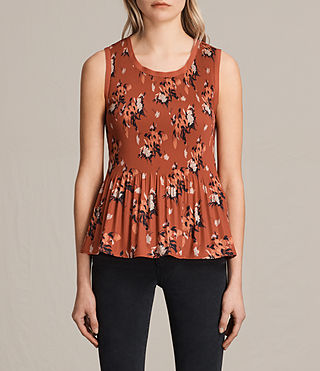 Womens Etta Kirsch Top (Red)