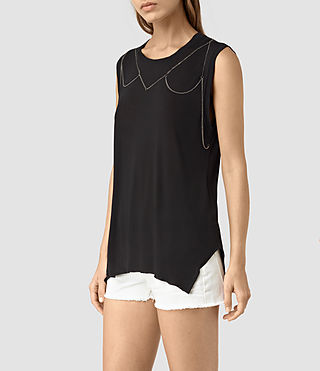 Womens Zemery Tank (Black) - product_image_alt_text_3