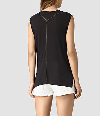Womens Zemery Tank (Black) - product_image_alt_text_4
