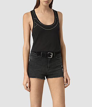 Womens Zemery Top (Washed Black)