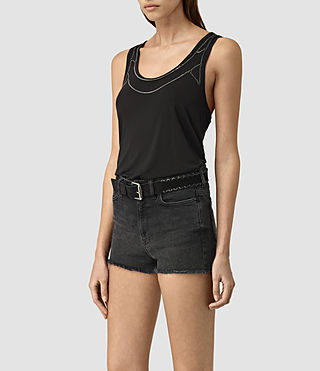 Womens Zemery Top (Washed Black) - product_image_alt_text_3