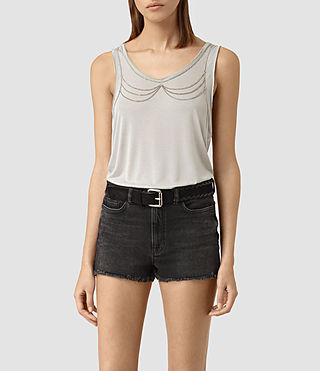 Womens Zemery Tank (Grey)