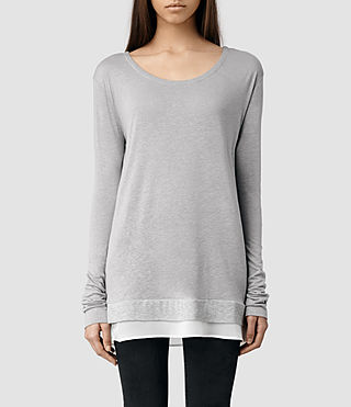 Womens Miro Long Sleeved T-shirt (Grey Marl)