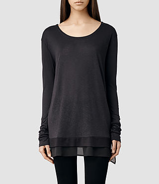 Womens Miro Long Sleeved T-shirt (Cinder)