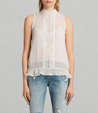 Donne Top Mina (OYSTER WHITE) -