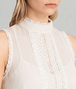 Womens Mina Top (OYSTER WHITE) - product_image_alt_text_2
