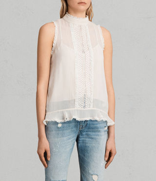 Womens Mina Top (OYSTER WHITE) - product_image_alt_text_3