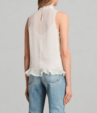 Womens Mina Top (OYSTER WHITE) - product_image_alt_text_4