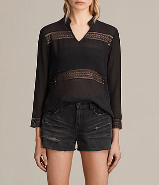 Womens Nima Top (Black) - product_image_alt_text_1