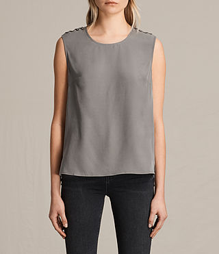 Women's Kaili Laced Tank (Khaki Green)