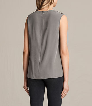 Womens Kaili Laced Tank (Khaki Green) - product_image_alt_text_4
