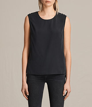 Mujer Camiseta Kaili Laced (Black) - product_image_alt_text_1