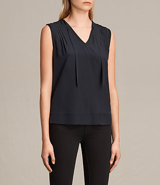 Womens Enber Top (DARK INK BLUE) - product_image_alt_text_2
