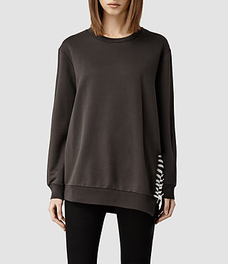 Womens Kim Sweat (Washed Black)