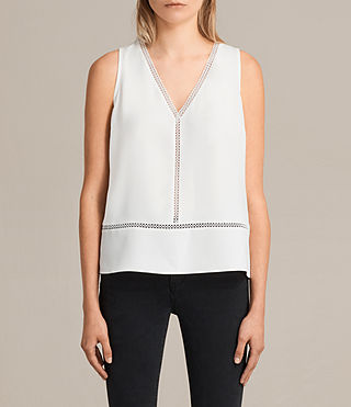 Womens Crace Top (Chalk White) - product_image_alt_text_1