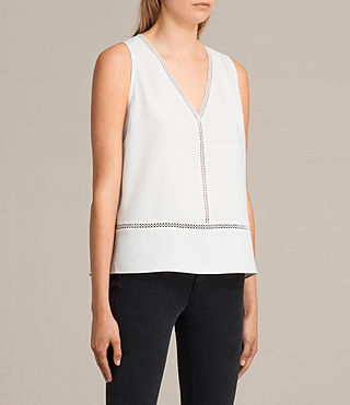 Womens Crace Top (Chalk White) - product_image_alt_text_3