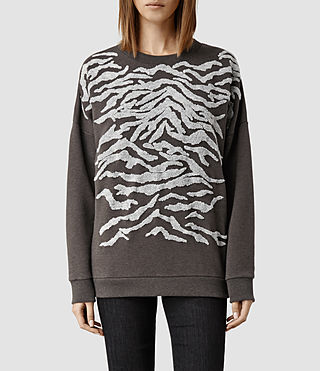 Womens Zira Sweat (Charcoal/Khaki)
