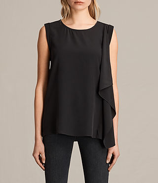Women's Lisa Silk Top (Black) -