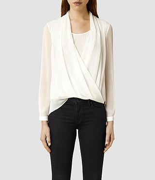 Womens Abi Sleeve Top (Chalk)