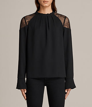 Women's Jay Lace Top (Black) - Image 1