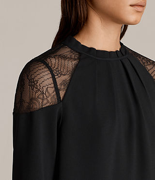 Women's Jay Lace Top (Black) - Image 2