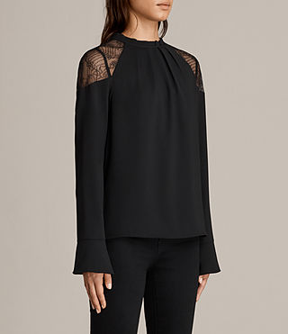 Women's Jay Lace Top (Black) - Image 3