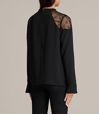 Women's Jay Lace Top (Black) - Image 4