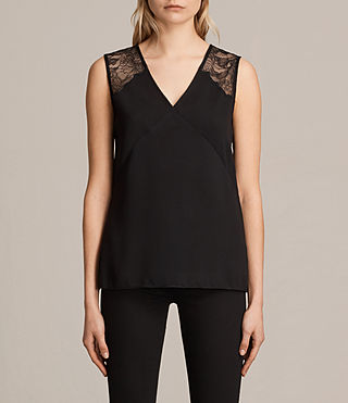 Damen Prism Top (Black/Black) -