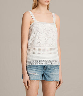 Women's Janey Camisole (Chalk White) - product_image_alt_text_2