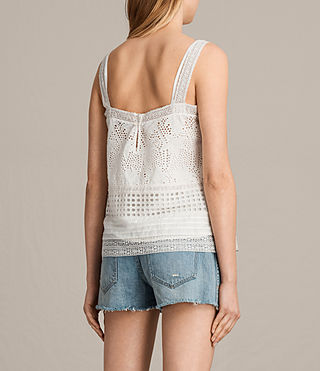 Women's Janey Camisole (Chalk White) - product_image_alt_text_3