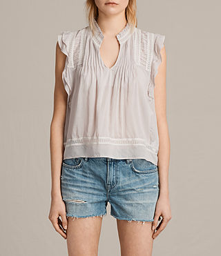 Damen Evelina Top (Pale Grey) -