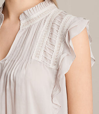 Damen Evelina Top (Pale Grey) - Image 2