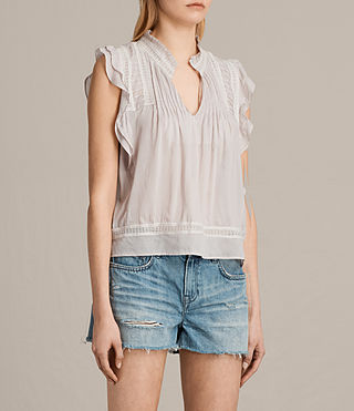 Damen Evelina Top (Pale Grey) - Image 3