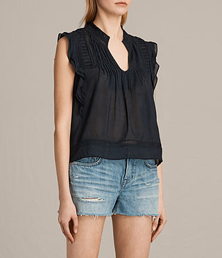 Women's Evelina Top (Black) - Image 3