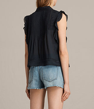 Women's Evelina Top (Black) - Image 4