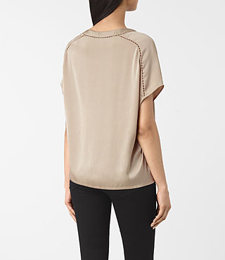 Mujer Frieda Satin Tee (OYSTER WHITE) - product_image_alt_text_3